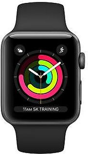 Apple Watch Series 3 42mm Space Gray Aluminum Case with Black Sport Band GPS MTF32