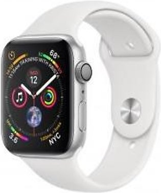 Apple Watch Series 4 44mm GPS Silver Aluminum Case with White Sport Band MU6A2