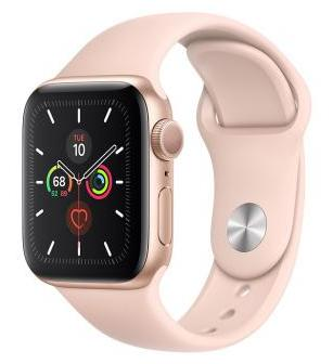 Apple Watch Series 5 40mm GPS Gold Aluminum Case with Pink Sand Sport Band
