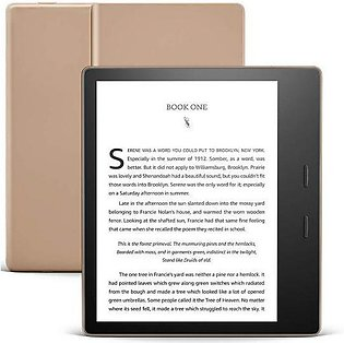 Amazon Kindle Oasis 32GB Champagne Gold - Now with adjustable warm light - In...