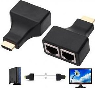 30M HDMI Dual CAT5E CAT6 1080P HDMI Extender Repeater for HDTV HDPC PS STB