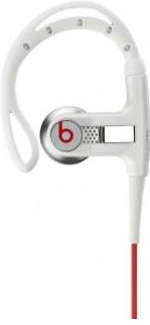Beats Powerbeats Clip-On Earbud In-Ear Headphones White