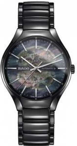 Rado True Open Heart Automatic Black Mother Of Pearl Dial Men's Watch