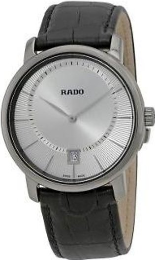 Rado DiaMaster Quartz Silver Dial Ceramic Men's Watch