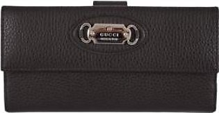 Gucci Women's Brown Leather Bifold Continental Wallet