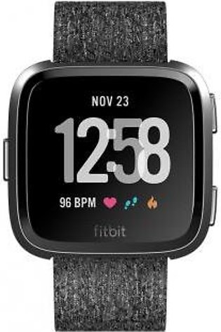 Fitbit Versa™ Special Edition Charcoal Woven/Graphite