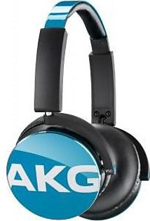 AKG Y50 Teal On-Ear Headphone with In-Line One-Button Universal Remote/Microphone, Blue
