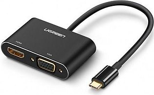 UGreen 2 in 1 Type C USB 3.1 to HDMI VGA Adapter Cable Support 4K UHD