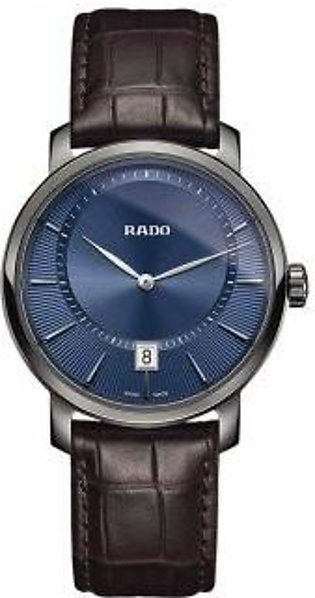 Rado DiaMaster Quartz Blue Dial Ceramic Men's Watch