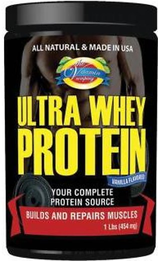 The Vitamin Company Ultra Whey Protein - 1 Lbs (454 mg) Vanilla Flavour