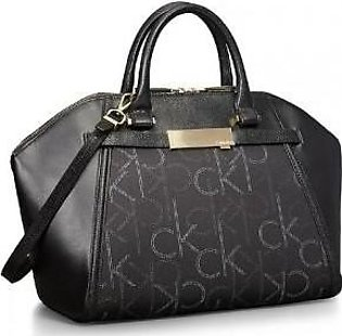 Calvin Klein Addie Dome Satchel Bag Handbag (Black)