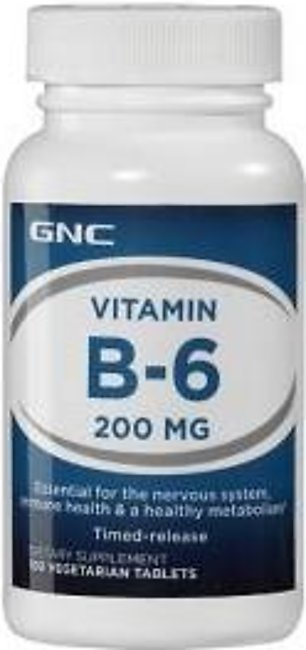 GNC Vitamin B-6 (100 Vegetarian Tablets)