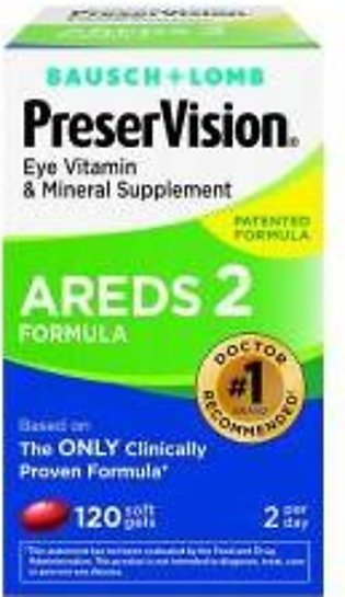PreserVision AREDS 2 Vitamin & Mineral Supplement 120 Soft Gels