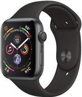Apple Watch Series 4 44mm GPS Space Gray Aluminum Case with Black Sport Band MU6D2