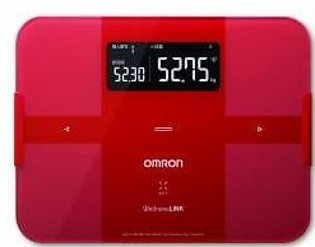 """Omron body composition monitor with total body fat. """"Body scan"""" HBF-252F-R Re..."""