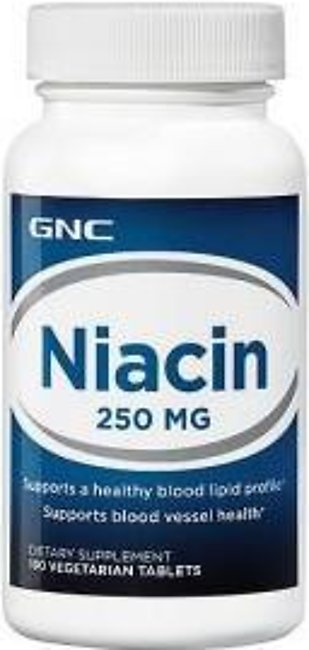 GNC Niacin 250 mg (100 Vegetarian Tablets)