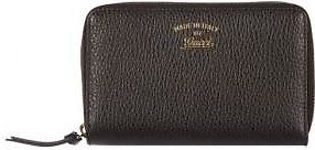 Gucci women's wallet leather coin case holder purse card bifold swing black
