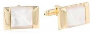 Stacy Adams Men's Gold Cuff Link with Mop Stone