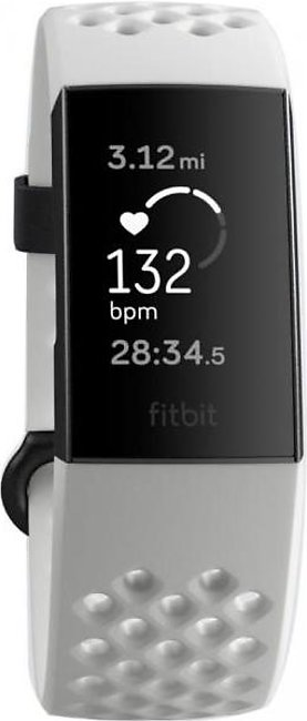 Fitbit Charge 3 Fitness Wristband (Frost White)