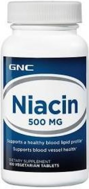 GNC Niacin 500 mg (100 Vegetarian Tablets)