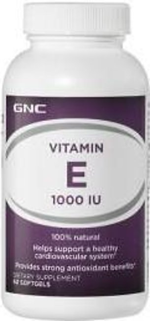 GNC Vitamin E 1000 IU (60 softgels)