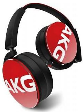 AKG Y50 Red On-Ear Headphone with In-Line One-Button Universal Remote/Microph...
