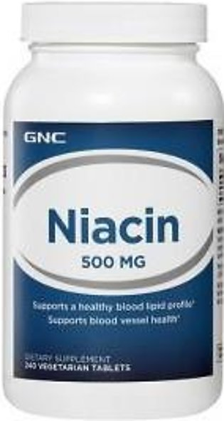 GNC Niacin 500 mg (240 Vegetarian Tablets)