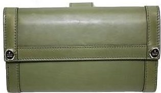 Gucci Leather Continental Flap Wallet 231839, Green