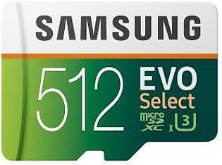 Samsung 512GB 100MB/s (U3) MicroSDXC Evo Select Memory Card with Adapter