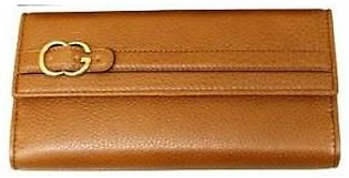 Gucci Women's Brown Continental Leather Wallet Clutch