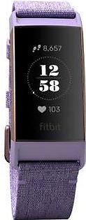 Fitbit Charge 3 Fitness Wristband (Lavender Woven)