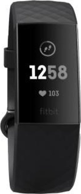 Fitbit Charge 3 Fitness Wristband (Black)