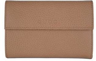 Gucci Women's Whiskey Beige Leather French Wallet W/Coin Pocket
