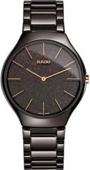 Rado True Thinline Brown Ceramic Dial Men's Watch
