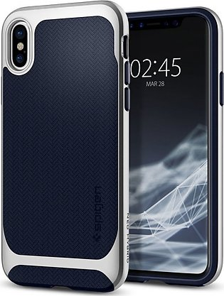 Spigen Apple iPhone X Case Neo Hybrid – Satin Silver