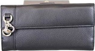 Gucci Women's Black Charm Continental Leather Wallet