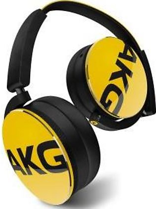 AKG Y50 Yellow On-Ear Headphone with In-Line One-Button Universal Remote/Micr...