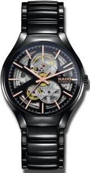 Rado True Automatic Open Heart Black/Skeleton Dial Men's High-Tech Ceramic Watch