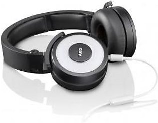 AKG Y55 White DJ-Ready Headphones with Enriched Bass, Snug Fit and In-Line Re...