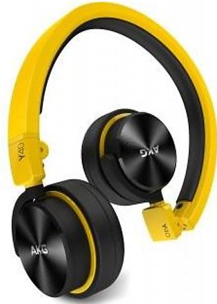AKG Y40 Yellow Mini On-Ear Headphone with Remote/Microphone and Detachable Ca...