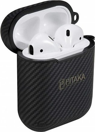 PITAKA Airpal Mini Aramid Fiber Protective Case for Airpods 1 & Airpods 2 Black…
