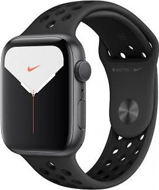 Apple Watch Series 5 44mm GPS Space Gray Aluminum Case with Anthracite/Black ...