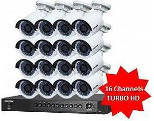 Hikvision 16 Turbo HD Cameras with Accessories