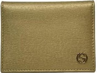 Gucci Metallic Gold Leather ID Wallet