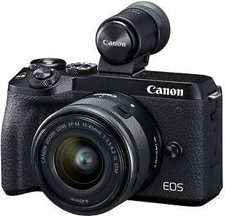 Canon EOS M6 Mark II with EF-M 15-45mm Lens + EVF Kit Black
