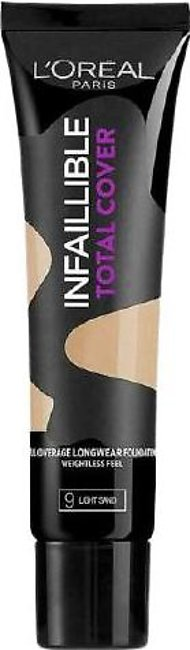 L'Oreal Paris Infallible Total Cover Foundation - Light Sand #9