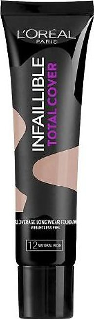 L'Oreal Paris Infallible Total Cover Foundation - Natural Rose #12