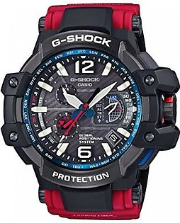 Casio G-Shock Gravitymaster Black Dial Red Resin Quartz Men's Watch GPW1000RD-4A