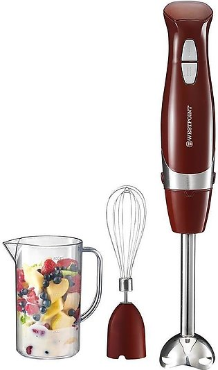 Westpoint 9715 Hand Blender With Egg Beater (Maroon Color) New Mo