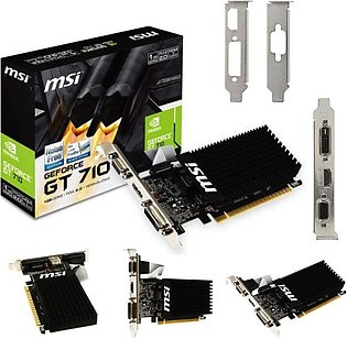 MSI NVIDIA GeForce GT 710 Graphic Card 954 MHz Core 1 GB DDR3 1600 MHz - PCI ...